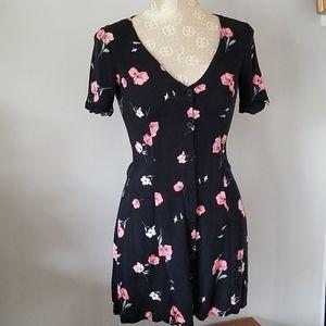 EUC H&M Button-Down Floral Dress
